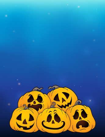 Pile of Halloween pumpkins theme 5 - eps10 vector illustration.