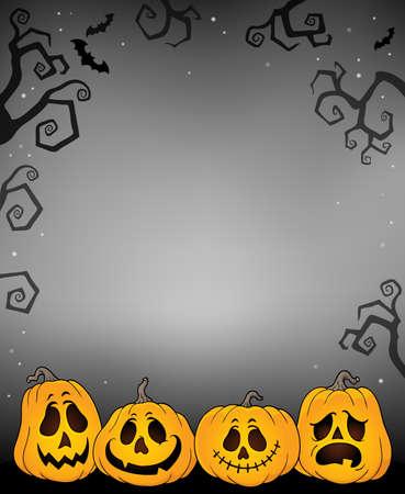 Halloween pumpkins thematics image 3 - eps10 vector illustration.