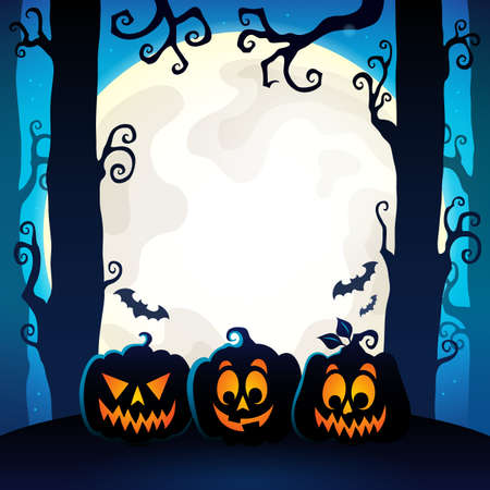 Halloween forest theme image 9 - eps10 vector illustration.