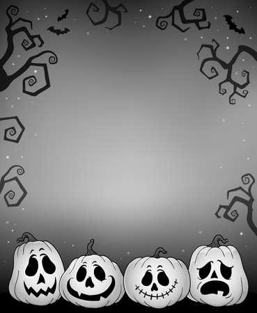 Halloween pumpkins thematics image 4 - eps10 vector illustration.