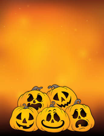 Pile of Halloween pumpkins theme 4 - eps10 vector illustration.