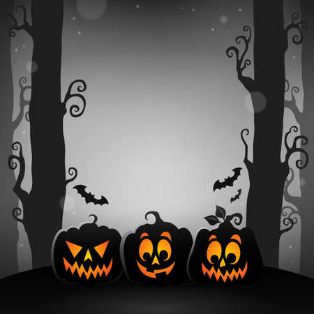 Halloween forest topic image 1 - eps10 vector illustration.