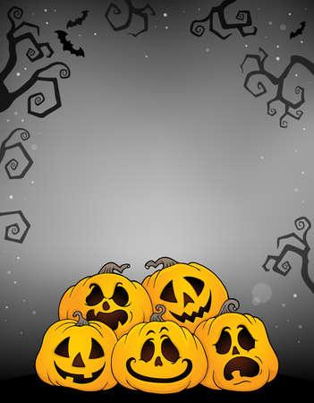 Pile of Halloween pumpkins theme 2 - eps10 vector illustration.