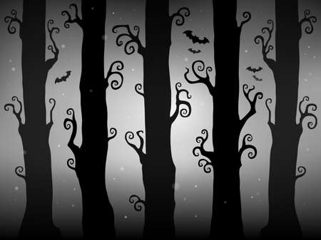 Halloween forest theme image 2 - eps10 vector illustration.