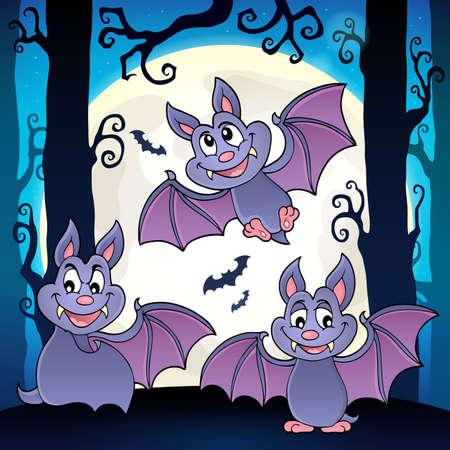 Bats theme image 6 - eps10 vector illustration.  イラスト・ベクター素材