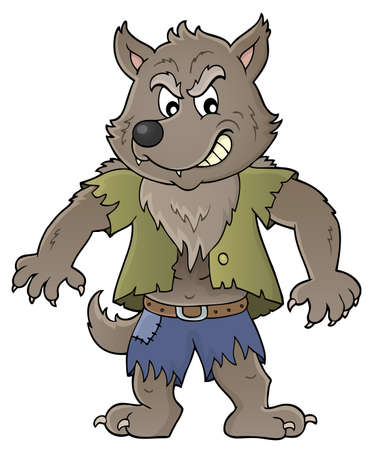 Werewolf topic image 1 - eps10 vector illustration.