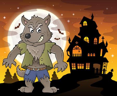 Werwolf Thema Bild 4 - eps10-Vektor-Illustration.