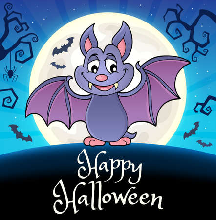 Happy Halloween composition image 8 - eps10 vector illustration. Illustration