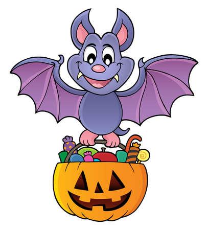 Halloween bat theme image 1 - eps10 vector illustration. 向量圖像