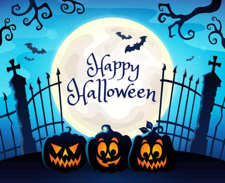 Happy Halloween composition image 7 - eps10 vector illustration.