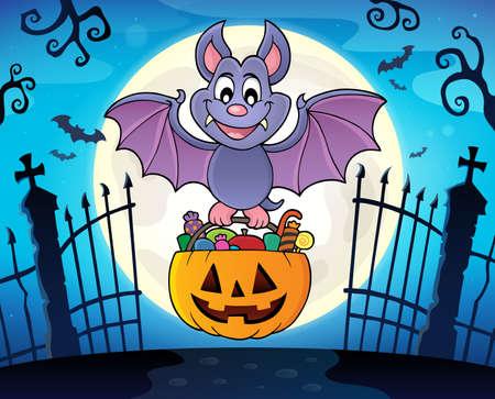 Halloween bat theme image 3 - eps10 vector illustration.