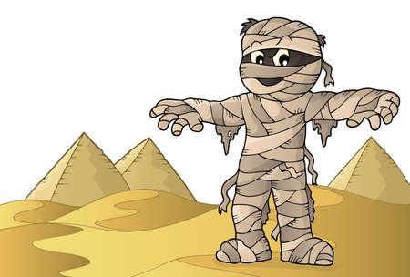 Mummy theme image 2 - eps10 vector illustration.