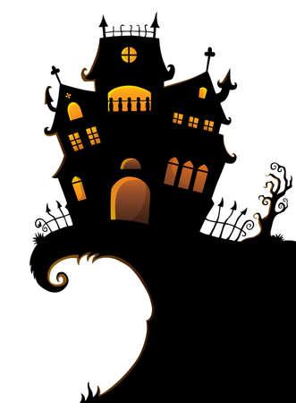 Halloween house silhouette theme 1 - eps10 vector illustration.