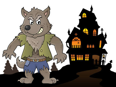 Werewolf topic image 5 - eps10 vector illustration.