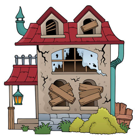 Derelict house theme image 1 - eps10 vector illustration. Imagens - 109628107