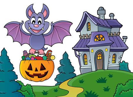 Halloween bat theme image 5 - eps10 vector illustration. Illusztráció