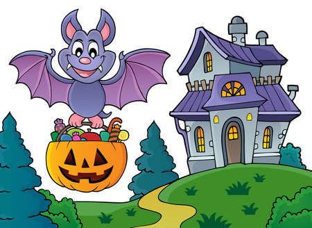 Halloween bat theme image 5 - eps10 vector illustration. Illustration