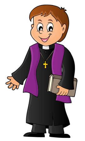 Imagen de tema de sacerdote joven 1 - ilustración de vector de eps10.