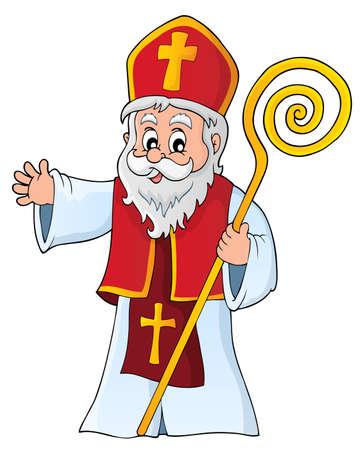Saint Nicholas topic image 1 - eps10 vector illustration.