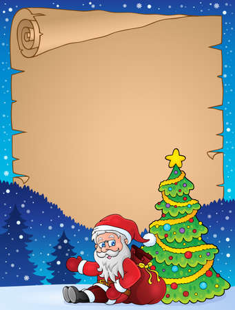 Parchment with Christmas thematics 2 - eps10 vector illustration.