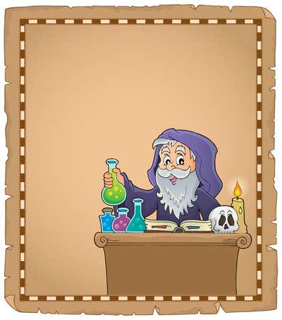 Alchemist topic parchment 2 - eps10 vector illustration.