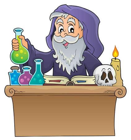 Alchemist topic image 1 - eps10 vector illustration.