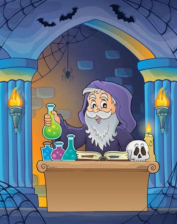Alchemist  image vector illustration.