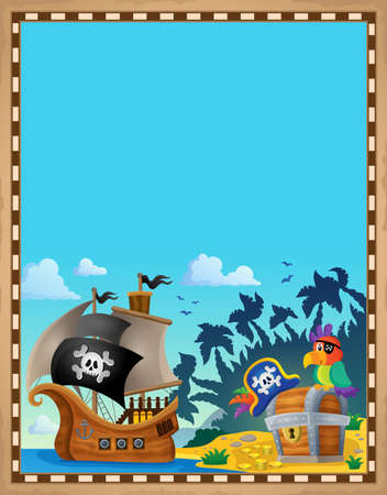 Pirate topic parchment 7 - eps10 vector illustration.
