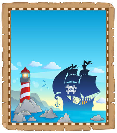 Pirate topic parchment 3 - eps10 vector illustration.