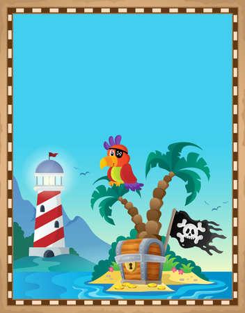 Pirate topic parchment 8 - eps10 vector illustration. Banque d'images - 127098530