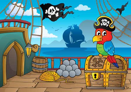 Thème de pont de bateau pirate 2 - illustration vectorielle eps10.