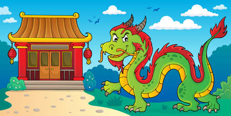 Chinese dragon theme image 2. vector illustration.