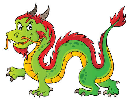 Chinese dragon theme image 1. vector illustration.