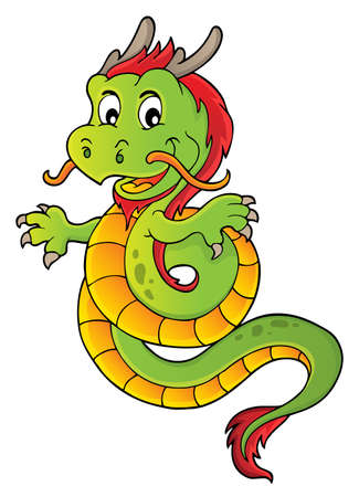 Chinese dragon topic image 1. vector illustration. Illustration