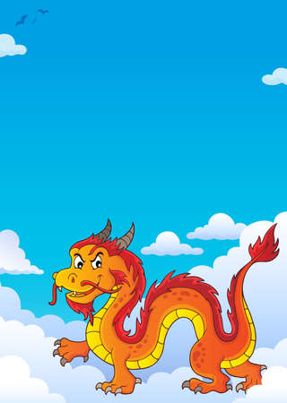 Chinese dragon theme image 7. vector illustration.