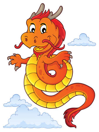 Chinese dragon topic image 5. vector illustration. Illustration