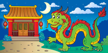 Chinese dragon theme image 4. vector illustration.