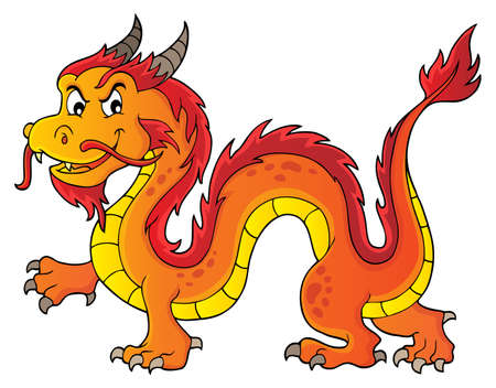 Chinese dragon theme image 5. vector illustration.