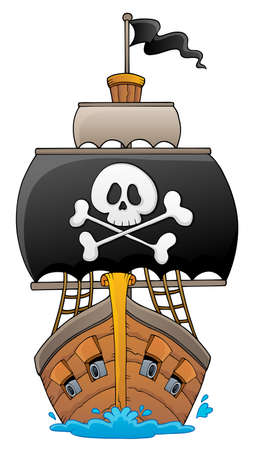 Image with pirate vessel theme 1 - eps10 vector illustration. Ilustracja