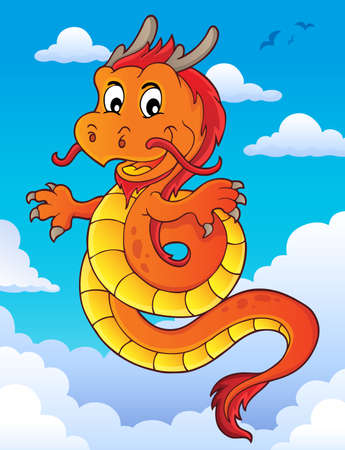 Chinese dragon topic image 6. vector illustration. Illustration