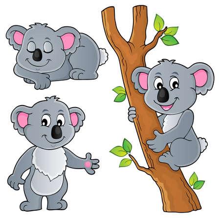 Koala theme collection 1 - eps10 vector illustration.