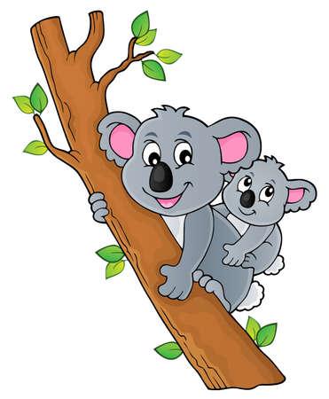Koala theme image 2 - eps10 vector illustration. Vector Illustration