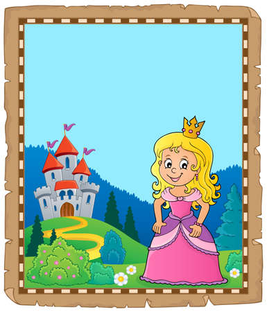 Princess topic vector illustration.