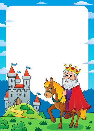 King on horse theme  vector illustration.