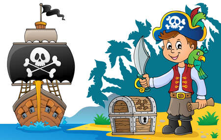 Pirate boy topic image 6 - eps10 vector illustration.