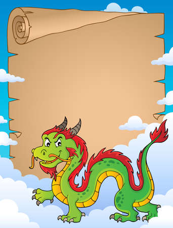 Chinese dragon theme vector illustration.