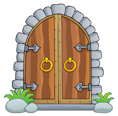 Old door theme image 1 - eps10 vector illustration.