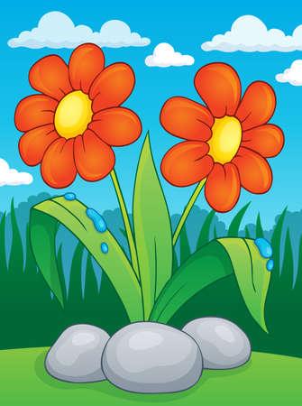 Spring flower topic image 2 - eps10 vector illustration. Ilustrace