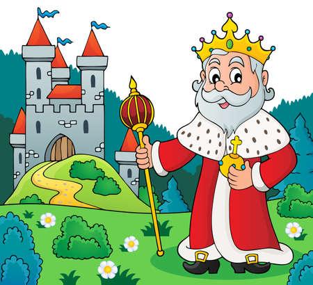 Ilustración de vector de rey.