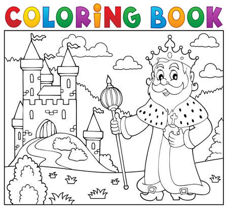 Coloring book vector illustration. Illustration